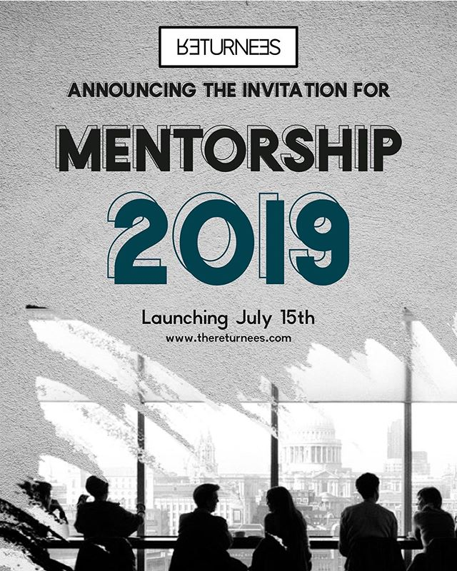 We are pleased to present The Returnees Mentorship programmed which launched yesterday July 15th.  Over 120 candidates signed up and we are very excited to say we have paired most with experienced, talented, and smart mentors.  This programme is open to all - invite your friends and those within your network to register. The link is in our bio.  If you have any questions, please send us a DM or email at info@thereturnees.com  #Mentorship #TheReturneesMentorshipProgramme #TheReturnees