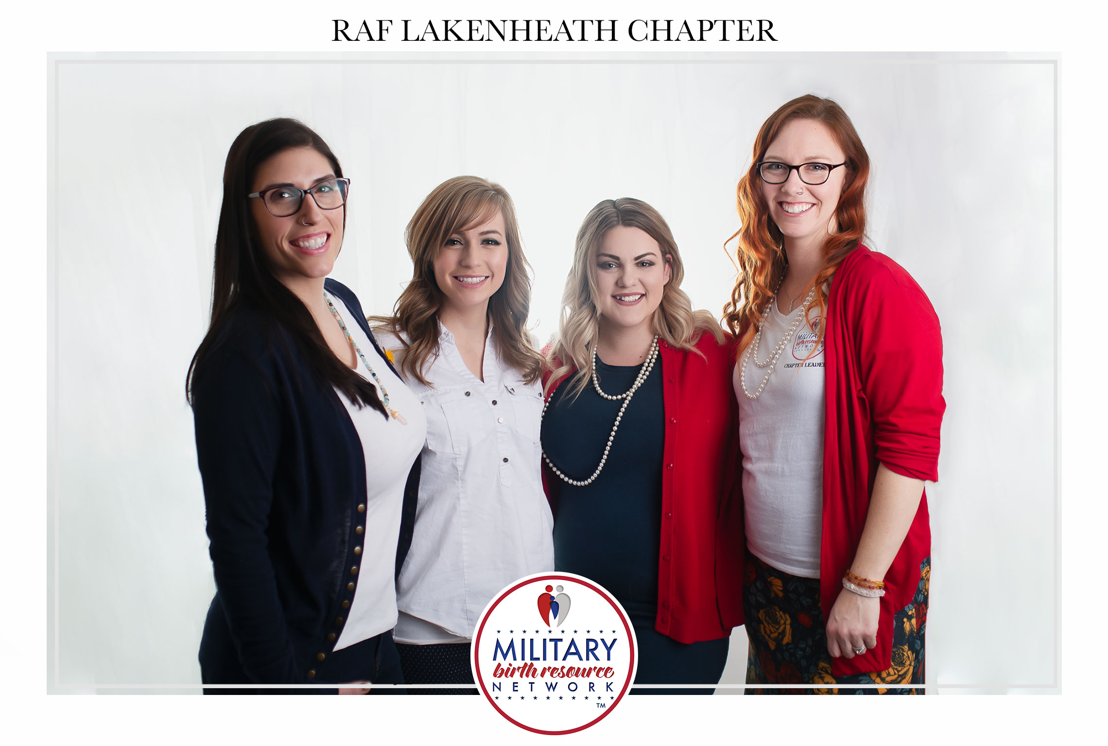 Pictured left to right: Amy R., Mariah D., Sarah P., Katie B. - Chapter Board  Photo Credit:  Hello, Lovely Birth Stories + Belly to Baby Photography  &  So Smith Photography