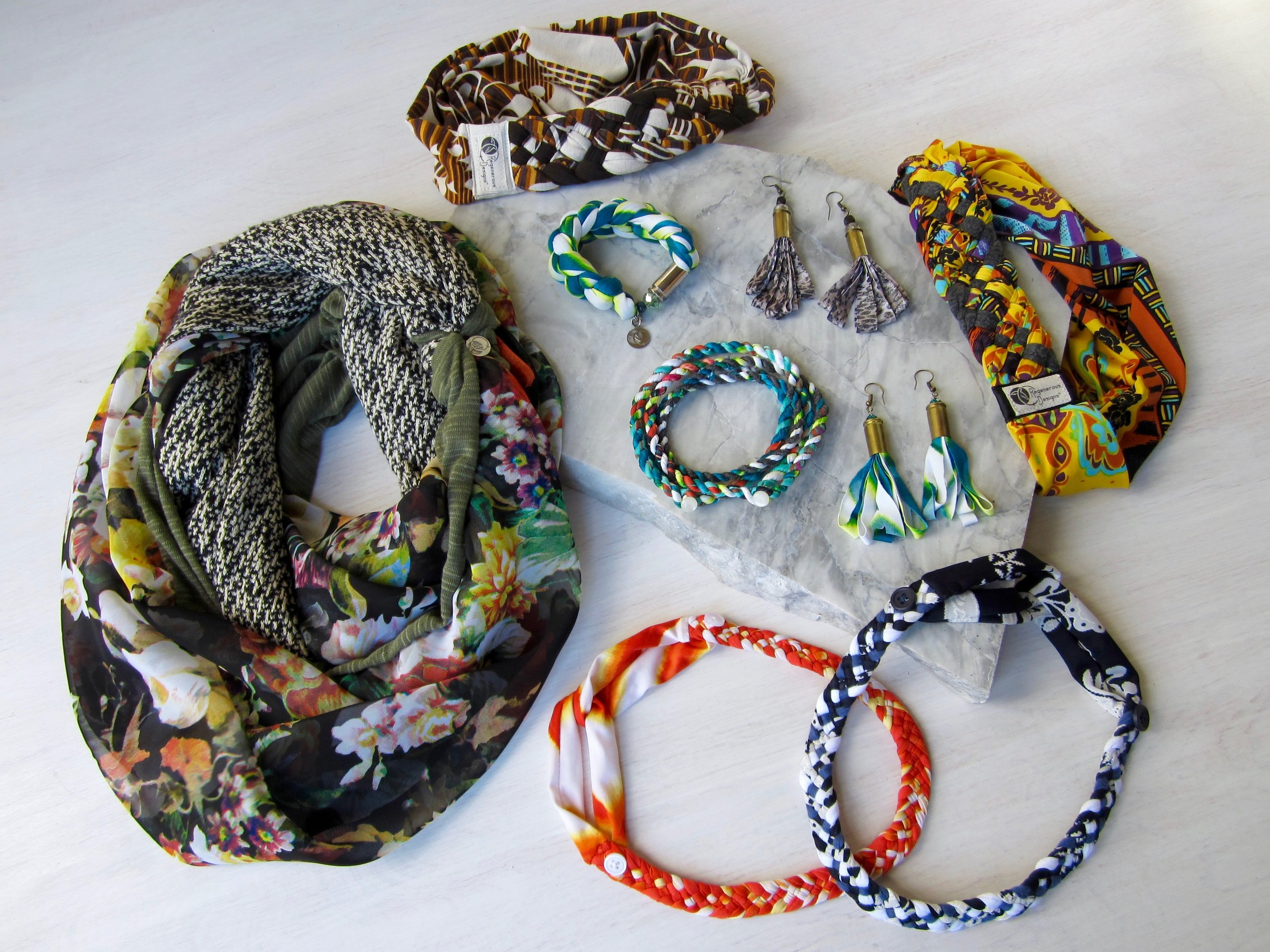 Stylish and versatile accessories made by Alyssa.