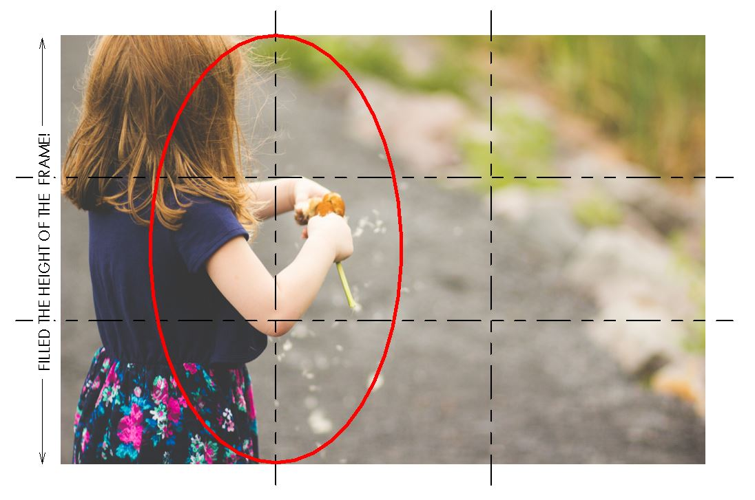 """(click to enlarge) Notice how not only did I frame the action of the shot within the left """"third"""", but I also filled the frame with the child (it wasn't taken from afar!)"""