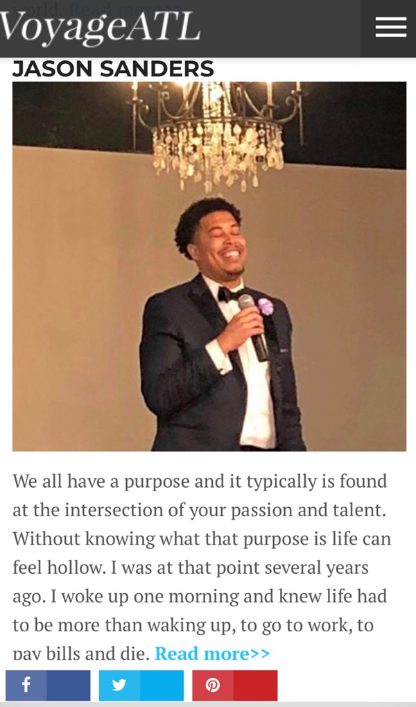 Featured in Voyage ATL - Check out his inspiring story…