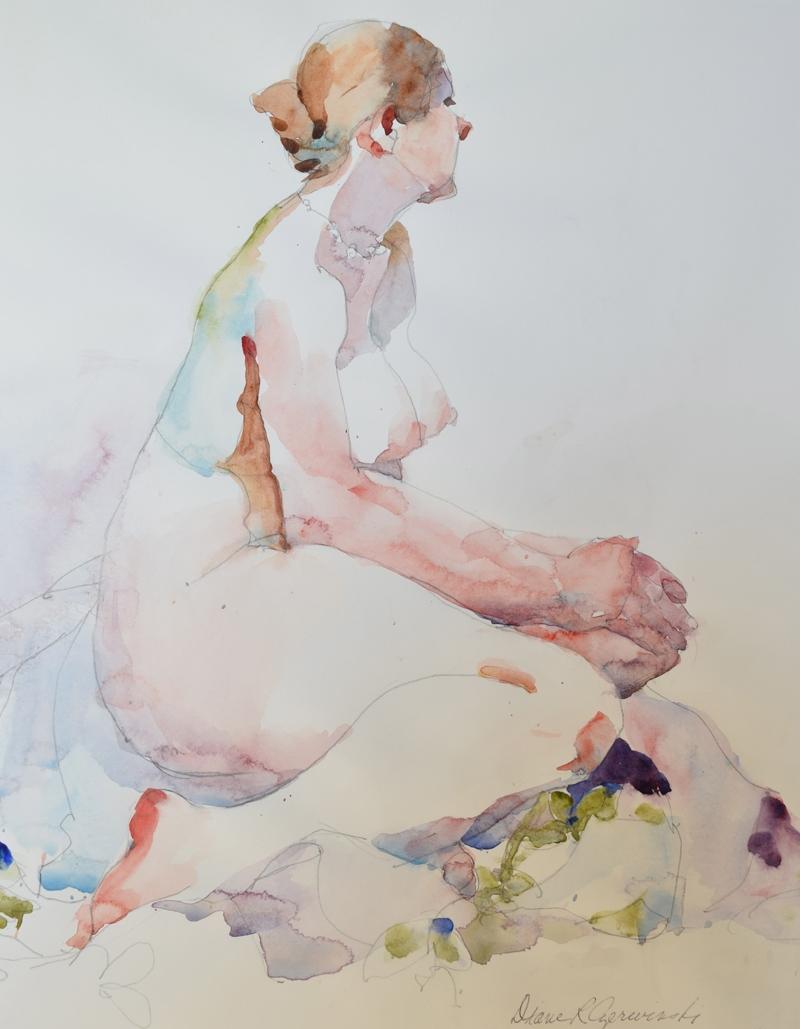 Seated Nude Profile