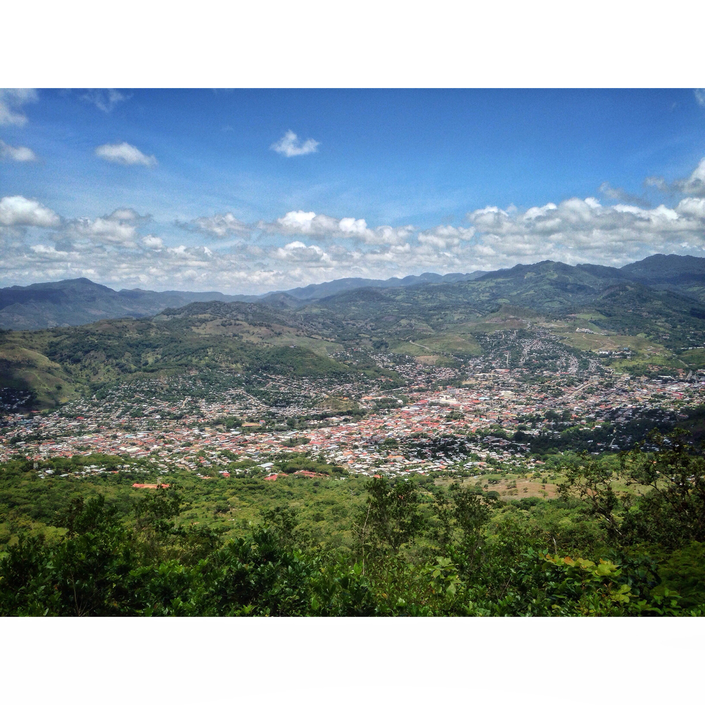 The view of Matagalpa, Nica from Cerro Apante.