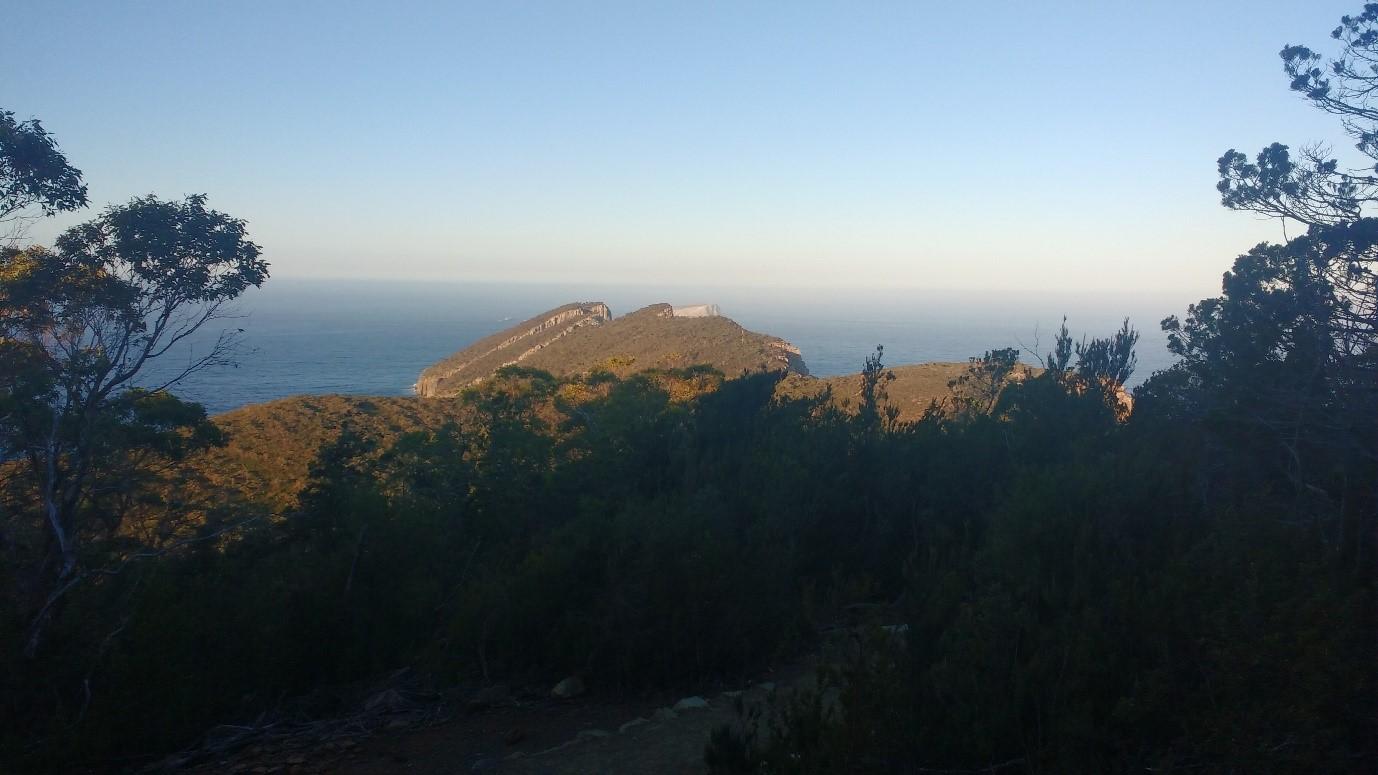 The scenic Tasmanian coastline