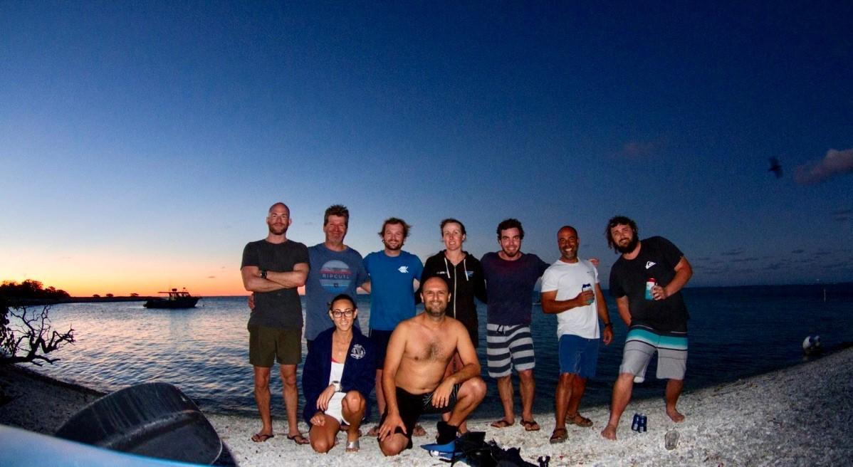 Pictured left to right: James Archibald, Brendan Kelaher, Tom Glaze, Emily Shaw, Dirk Erler, Ashly McMahon, Kay Davis, and Isaac Santos.