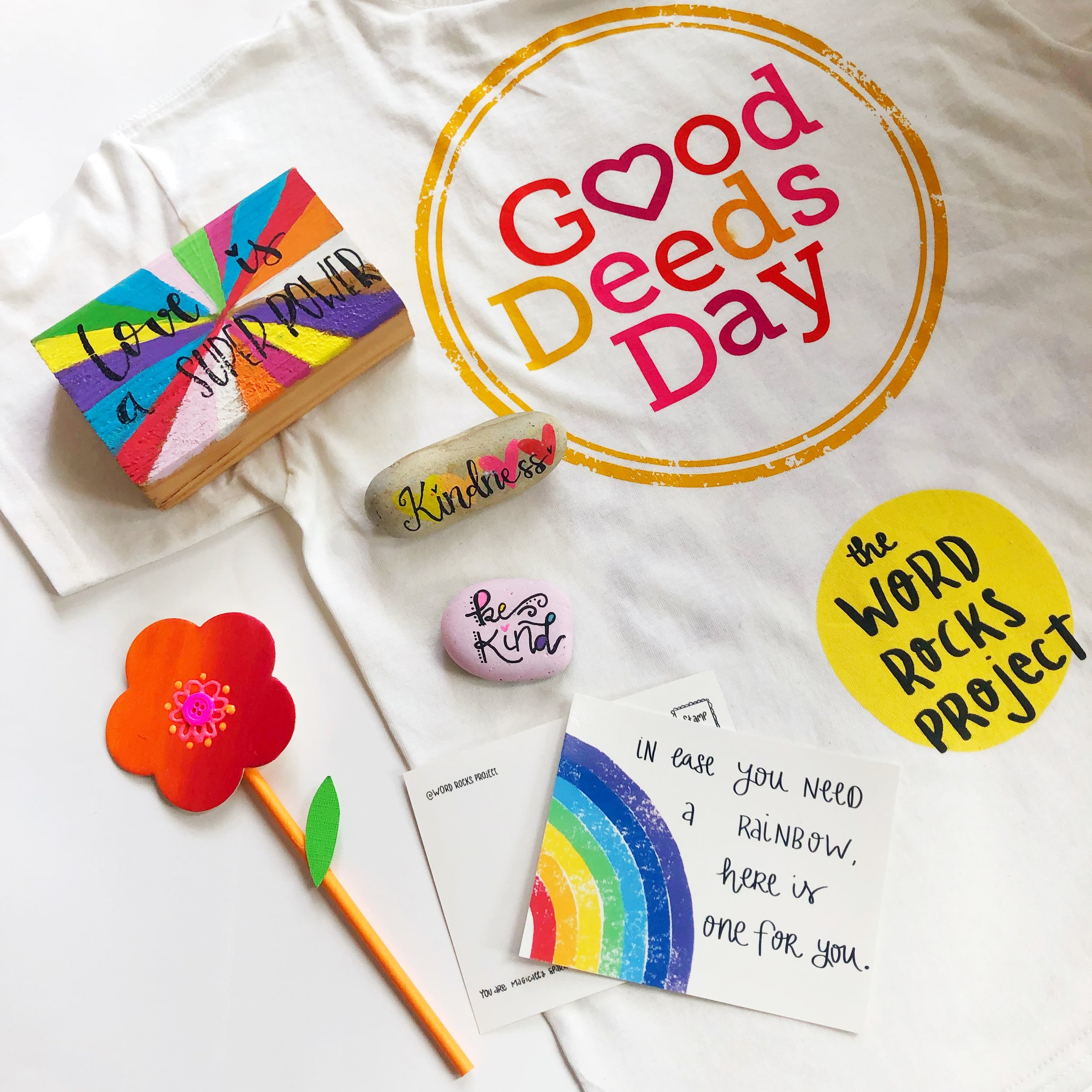 Wanna keep your kids busy with a good purpose?  We will be celebrating Good Deeds Day with an amazing class, April, 6th!  GDD is a global day that unites people from 100 countries to do good deeds for the benefit of others and the planet, and your kids can be part of it this year celebration! As one of their Ambassadors, I will talk to kids about how my kindness projects had spread all over the world and how they bring joy and support to so many!  Bring them to improve their crafting skills while learning how to make kindness famous through random acts of art.   BONUS : They will all receive a Good Deeds Day t-shirt!  Bring your kid and let's raise a generation that will be able to make kindness famous!  Ages 5-11  $22/kid  Buy tickets  HERE.   Questions? wordrocks.me@gmail.com