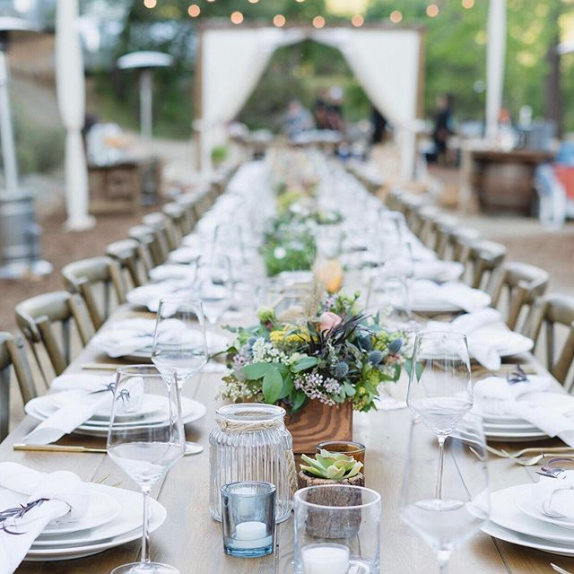 Fall is full of dinner under the stars and outdoor adventures with companies we are truly blessed to work with! • • • • Photo @baileymade_  Concept @mintcollective__  Rentals @standardpartyrentals  Venue @autocamp  Culinary @farmtotablecateringg  #gatheroutdoors #corporateretreat #creativeexperience #staygolden #gather #californiadreamin #travel #visitcalifornia
