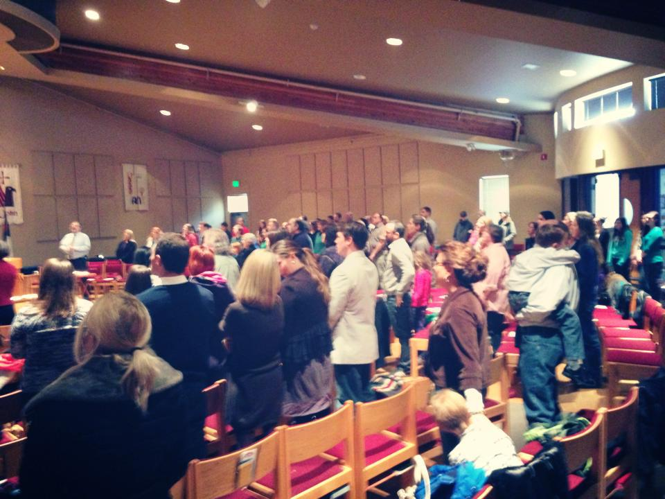 a SNAPSHOT OF our 11:30 worship in the sanctuary