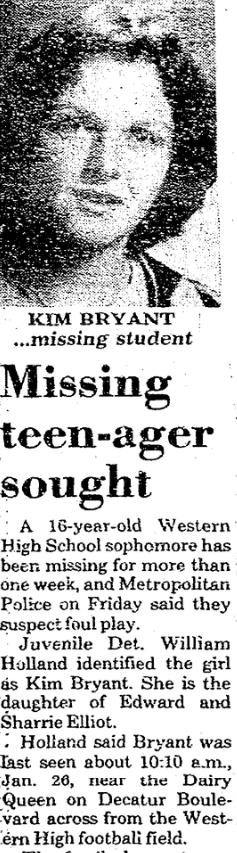 Taken From School The Unsolved Murder Of Kim Bryant Mayhem In The Desert