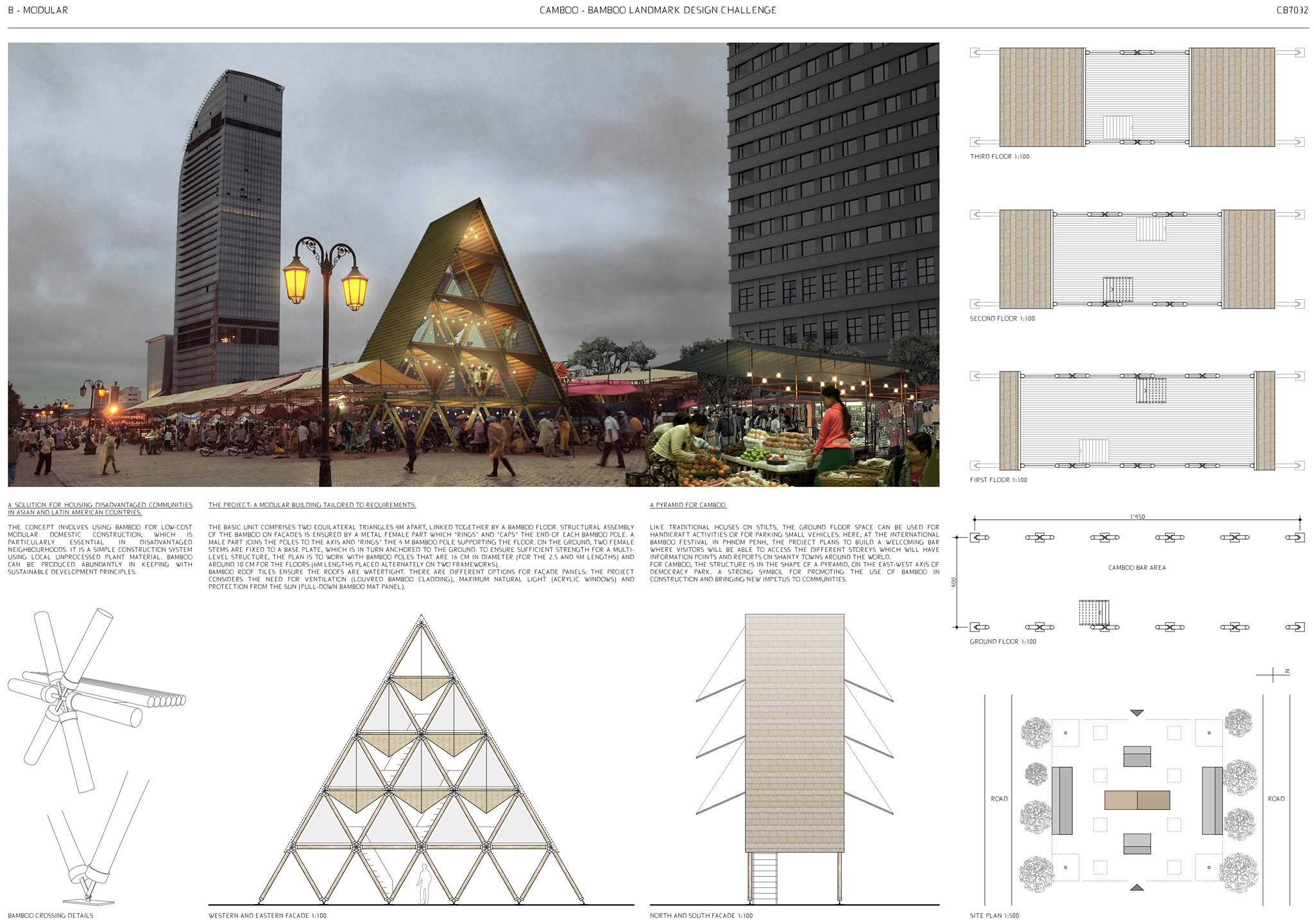 HONOURABLE MENTION: 'B-MODULAR' by Jean-Pierre Dind, Stéphane Link, Steve Gerbex and Steve Rouiller from  LINK architectes in Switzerland