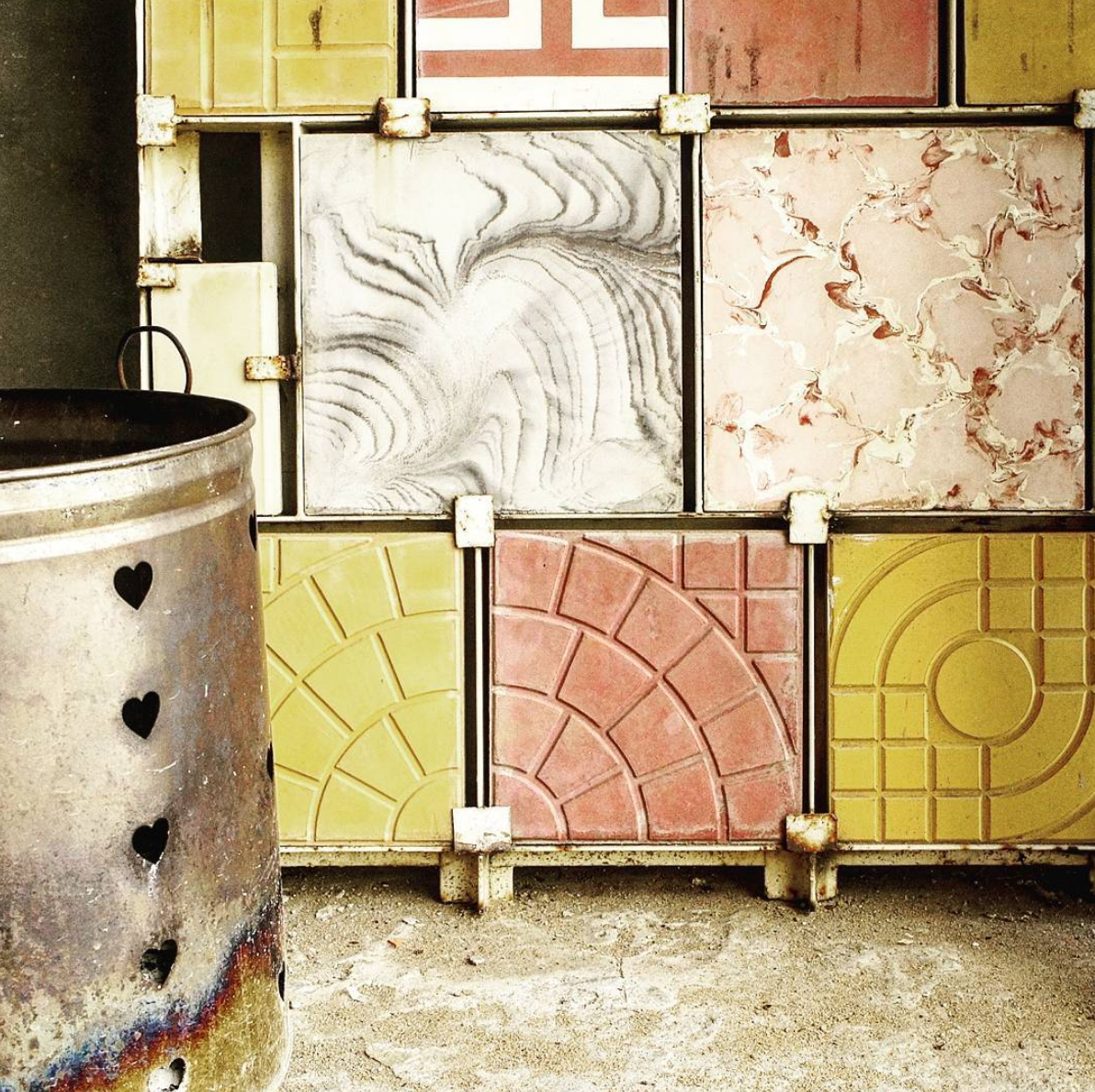 Traditional encaustic tile factory in Phnom Penh.