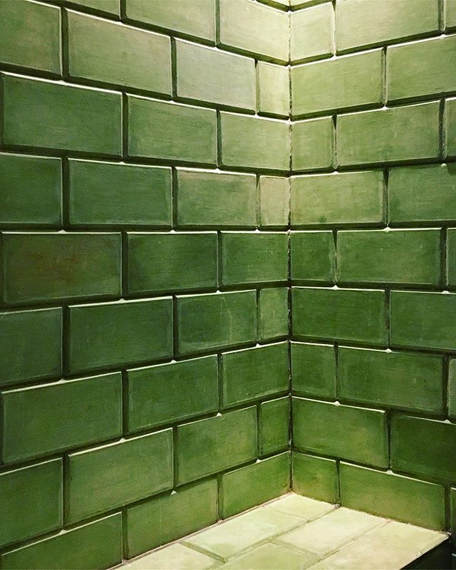 #lushgreen shower tiles at @1920.hotel #ihavethisthingwithtiles