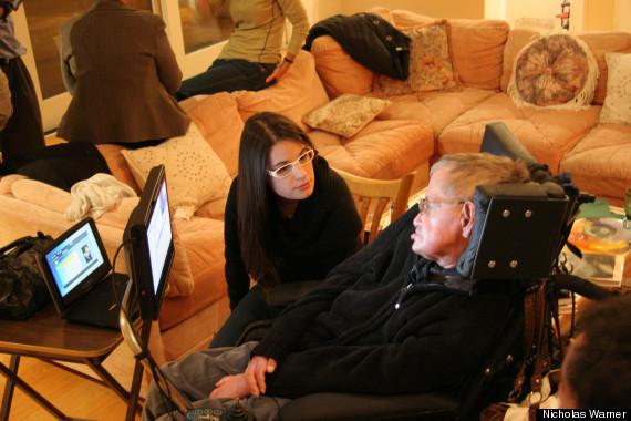 Cara Meets Steve Hawking. Read 'My Evening with Steve Hawking'here.