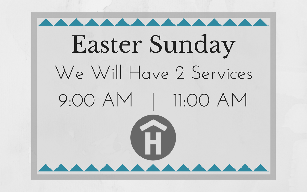 For six weeks starting Easter Sunday we will be running two services in the mornings. Both will keep up with all the things you love about The House, including the children's ministry and coffee shop.