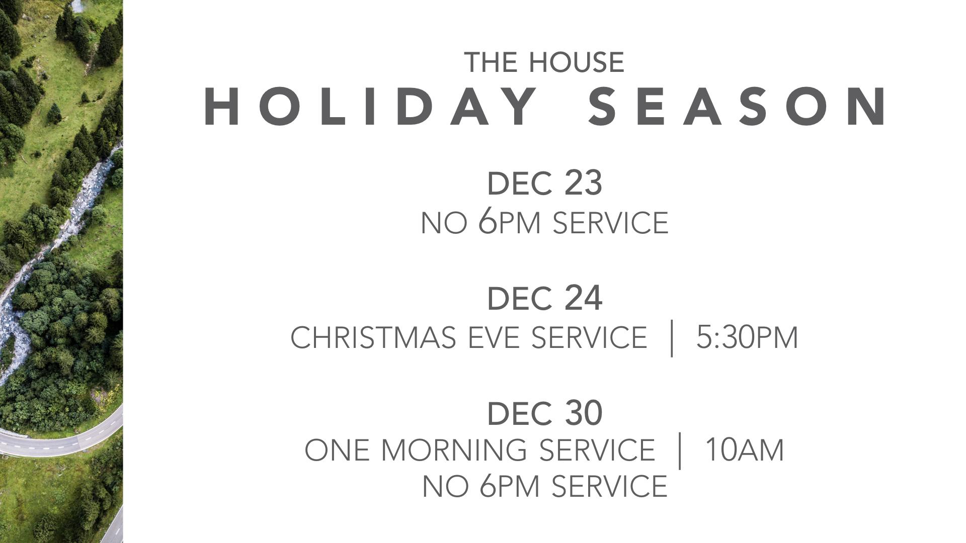 Christmas Season at The House Kelowna