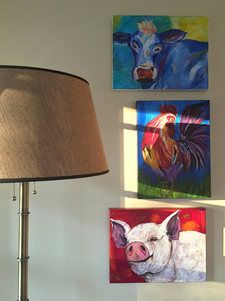 acrylic on canvas, local artist, When Pigz Fly, Ana Peralta, affordable artwork