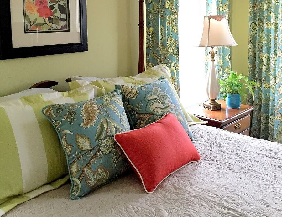 This Master Bedroom update was wonderful. We really took it from drab to fab!