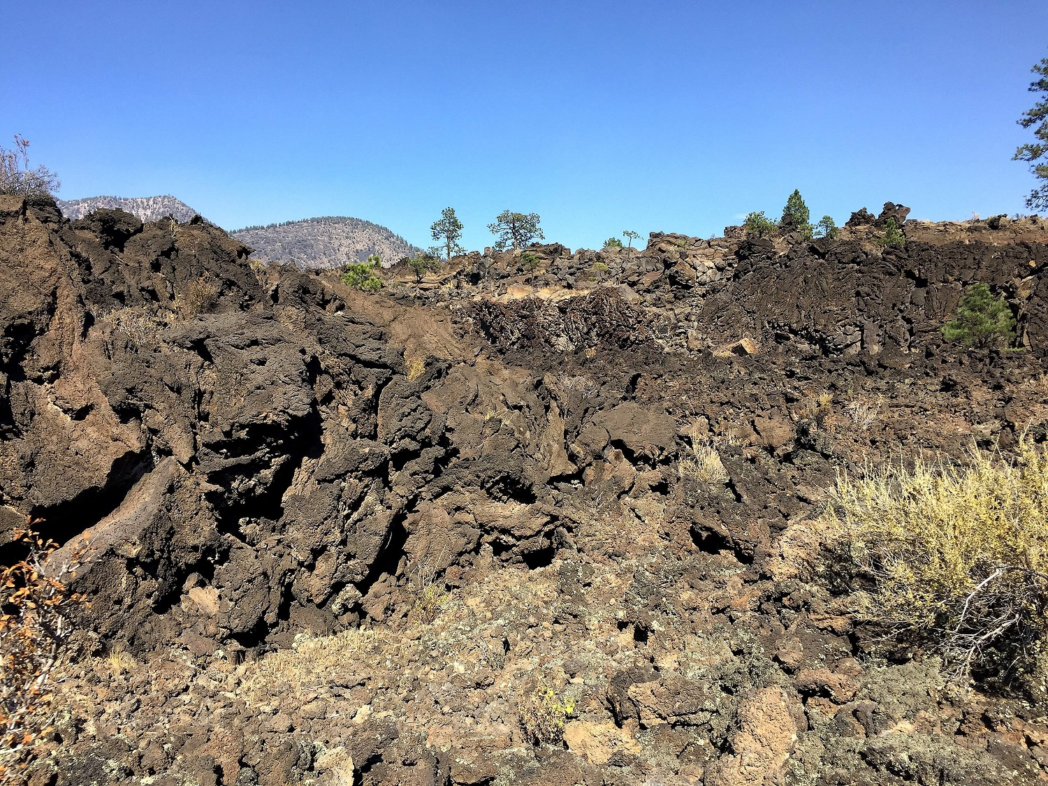 Wrestling with templates, coding, internet issues, etc. is like being in the midst of this lava flow - it's sharp, brittle, unforgiving, nasty stuff.