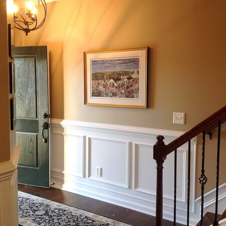 warm inviting foyer Raleigh NC