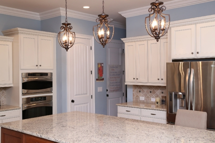 The right lighting made all the difference in the use of this kitchen.