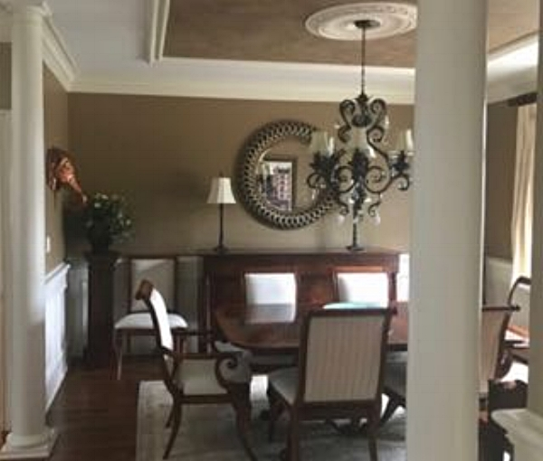 Sorry it's not all sharp and perfect, but this is a Before picture. It's a beautiful Dining Room that I had a hand in a number of years ago. Now the family in this home needs to use the space differently. And they want some Wow!