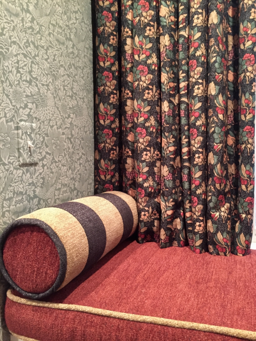 A fabulous window-seat update in the the arts & craft style of William Morris.
