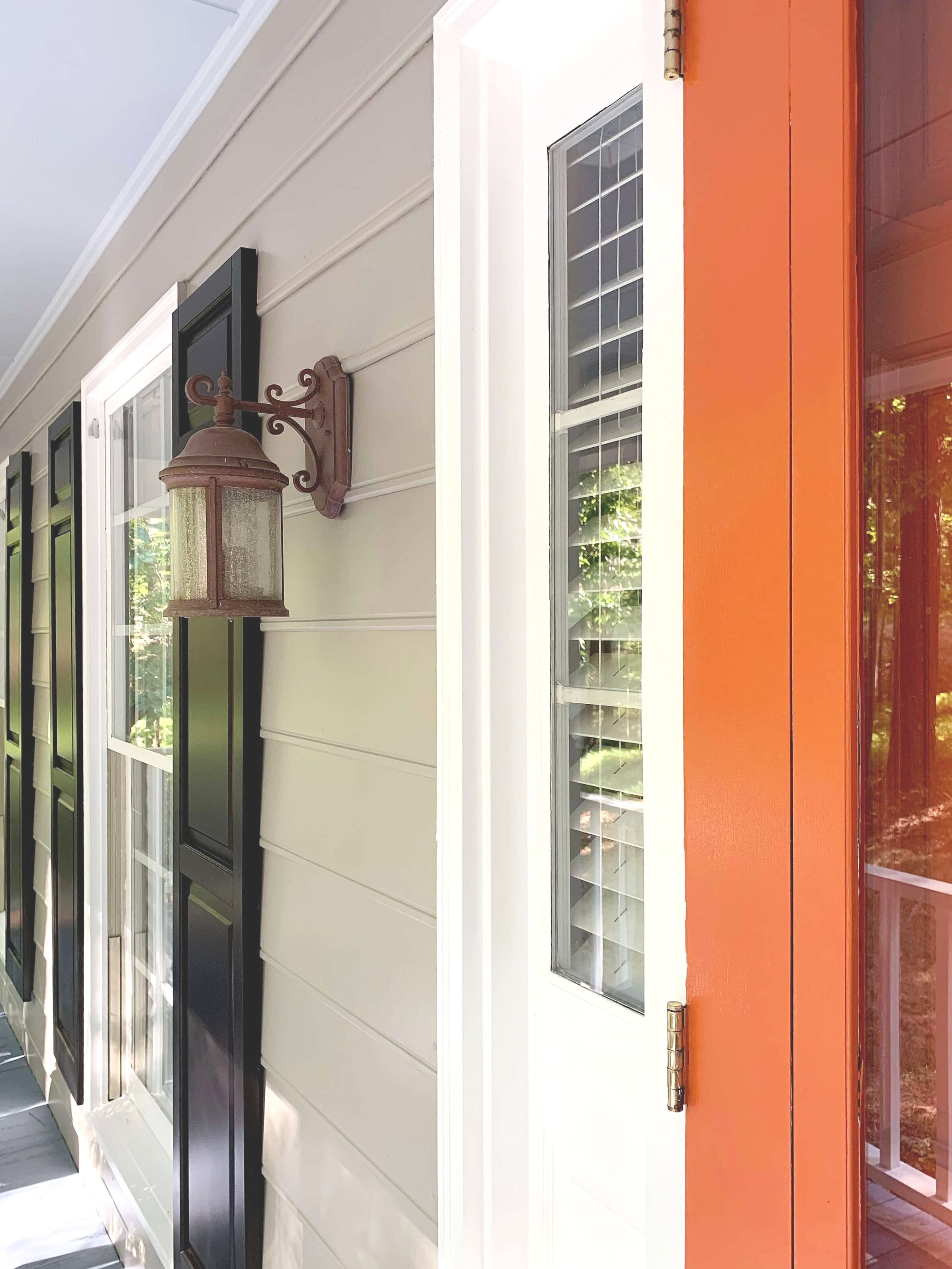 Walls, shutters, trim, door - see how all the exterior paint colors are working together?