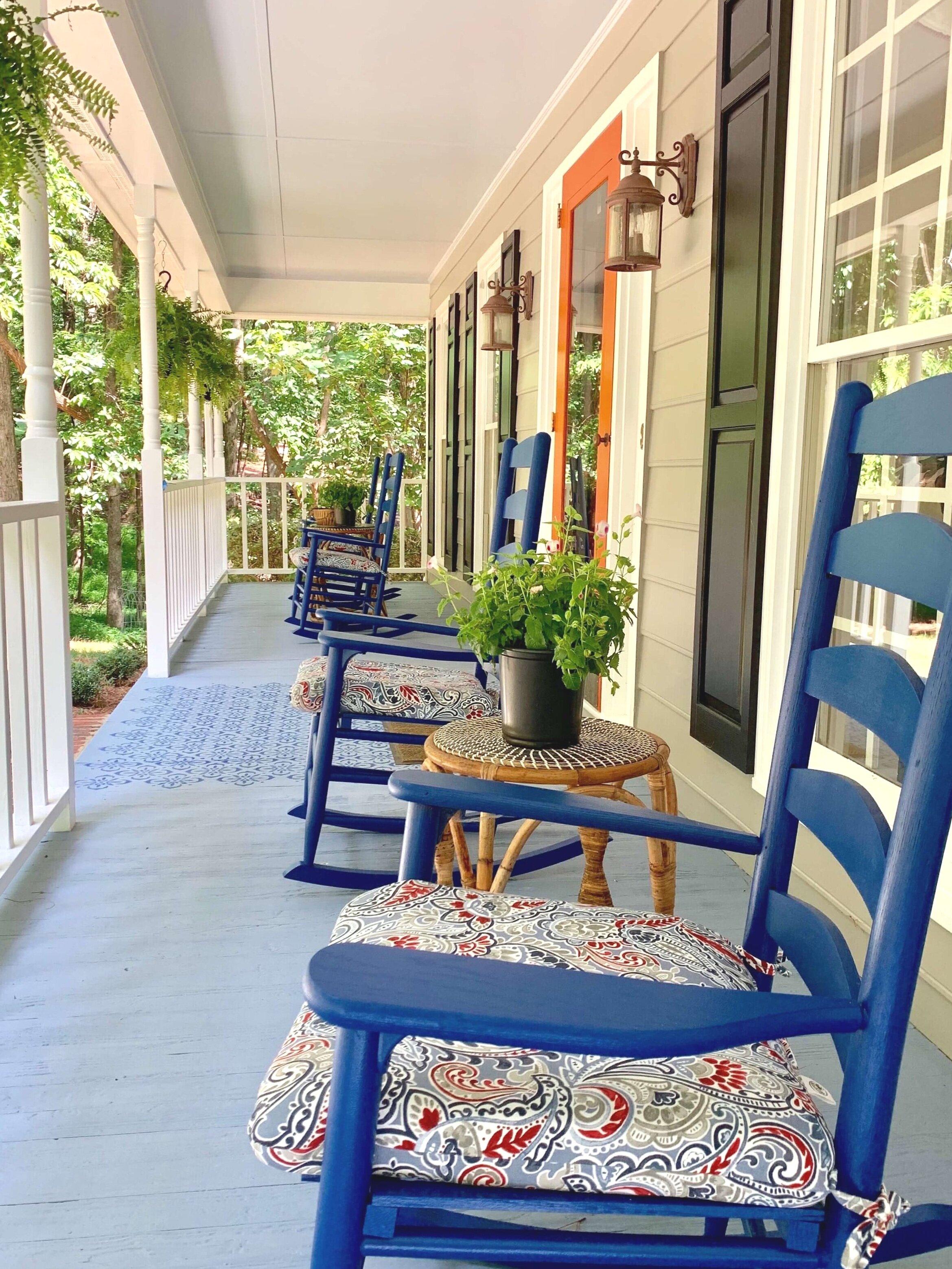 Exterior paint colors, front porch paint color, porch floor color, ceiling color