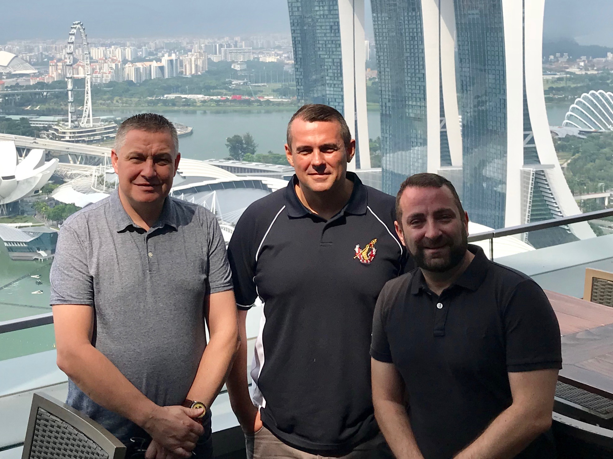 Neil Quinnell (Projects Director, Six Star Global), Chris Pearson (Director of Asian Operations, Six Star Asia), and Rich Stakounis (Director of Operations, Six Star Global).