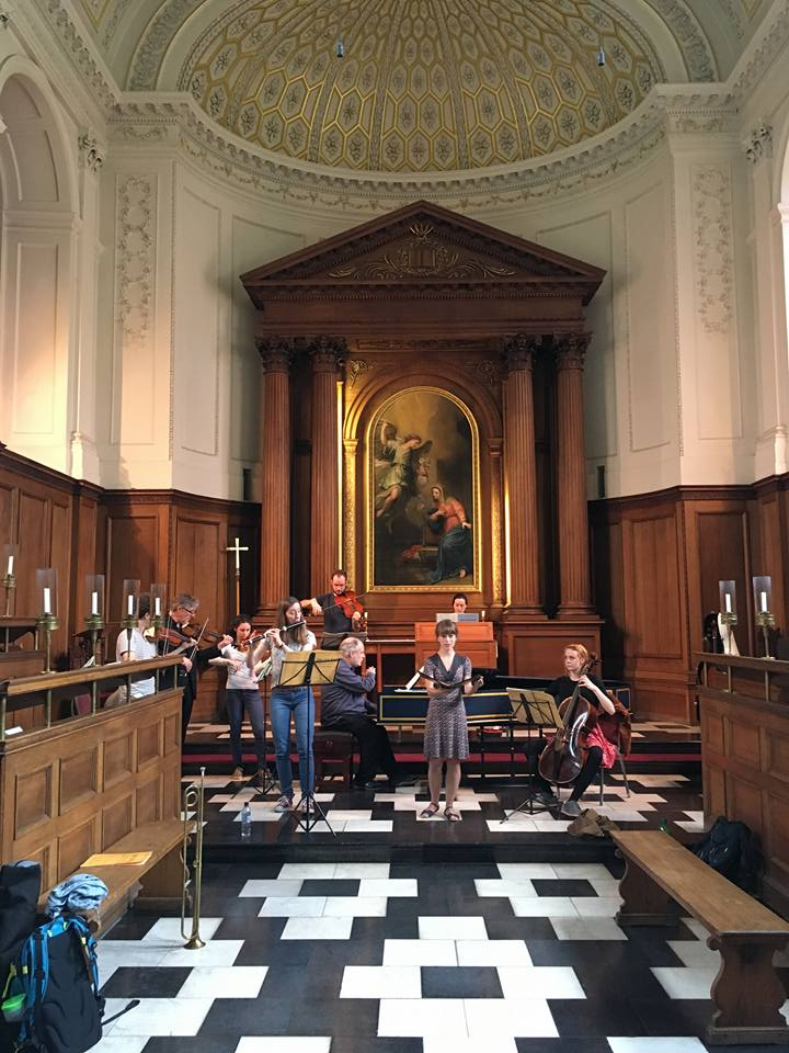 Rehearsing Bach Cantatas in Cambridge