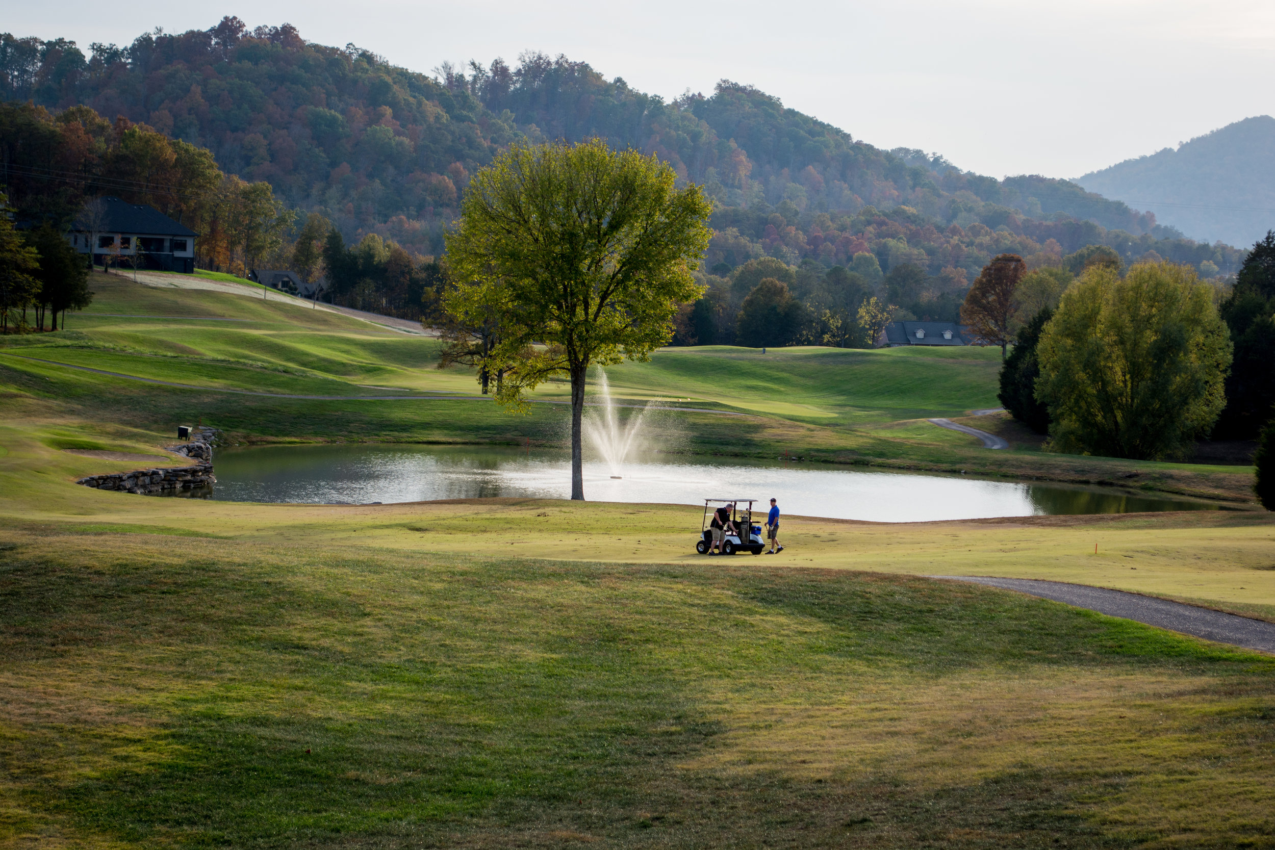Even if golf isn't your thing,  there's plenty of allure in the lush views in the community surrounding Woodlake Lodge, Golf & Country Club. Photo by Daniel and Shannon Hill