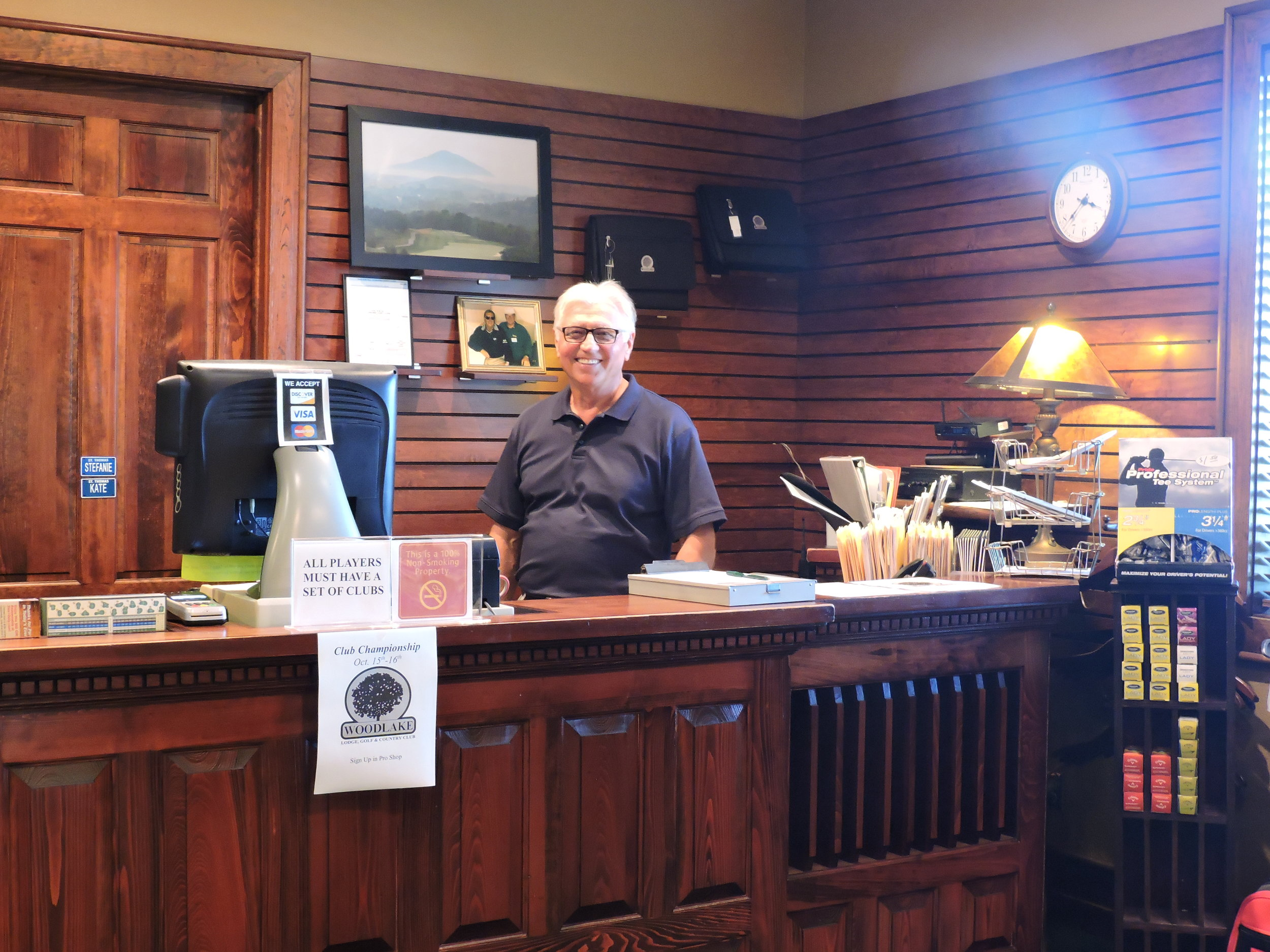 In the Woodlake pro shop, you'll always be greeted with a friendly smile.