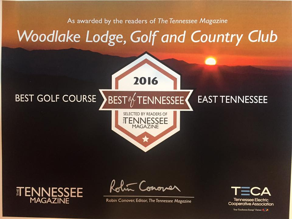 Woodlake has been honored by the readers of Tennessee Magazine as the best golf course in East Tennessee for three consecutive years.