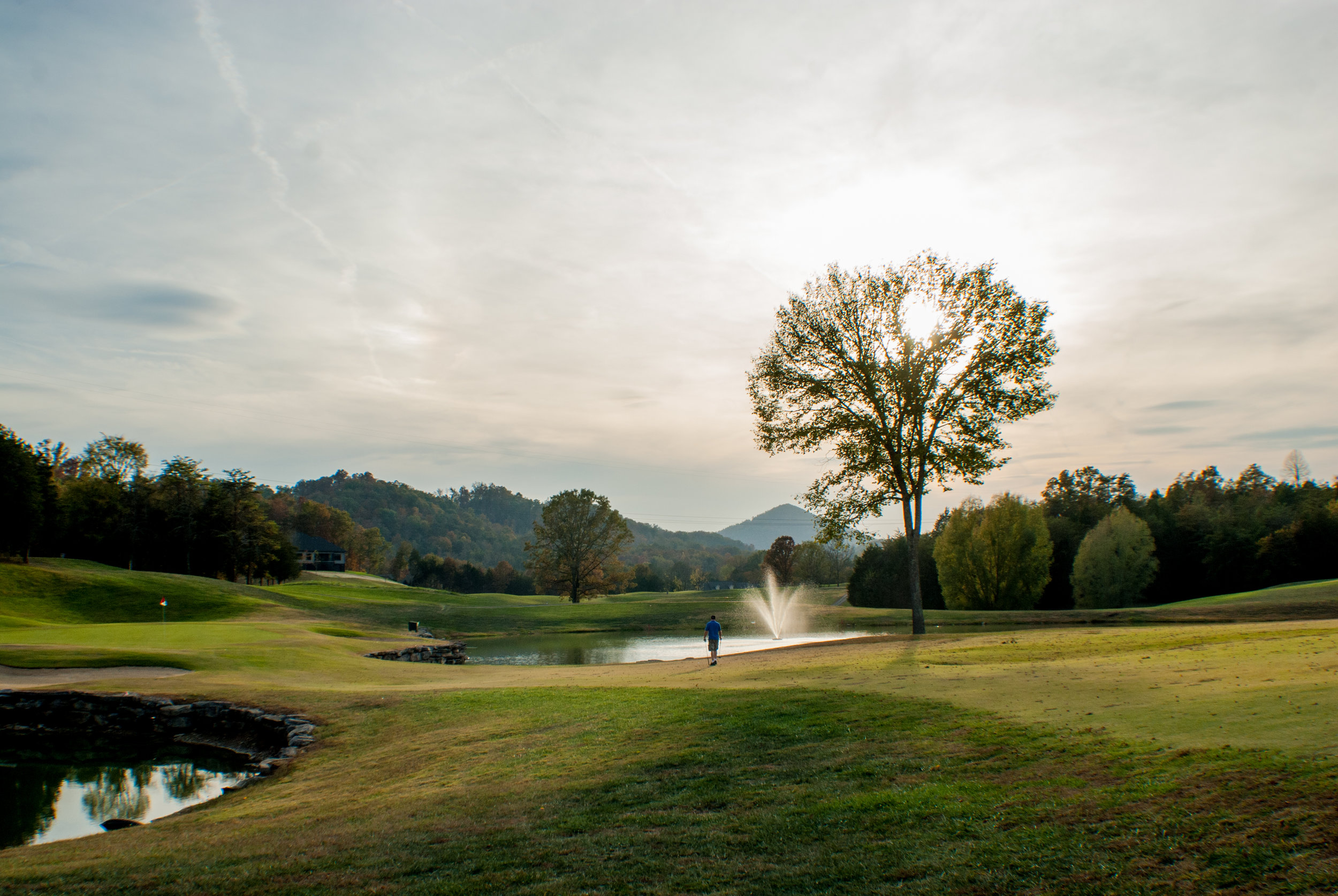 The Woodlake course is surrounded by natural beauty.