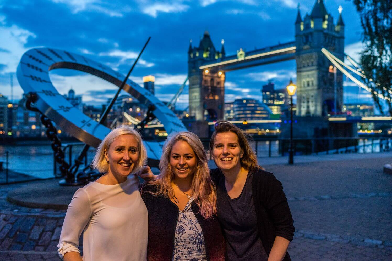 Pictured alongside Caroline- Susan Ronaldson and Jess Rego make up the other two thirds of team Status Row.
