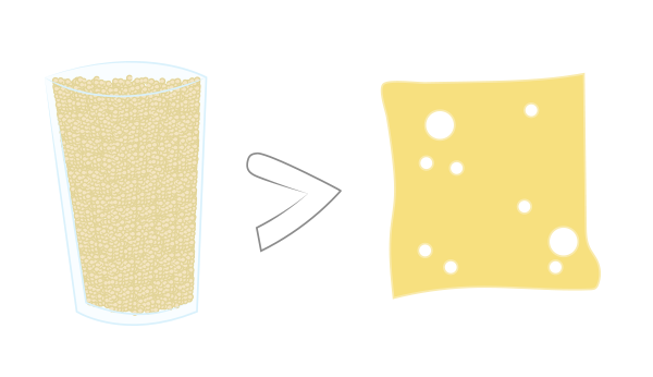 1 cup of cooked quinoa contains more protein than a slice of cheese.