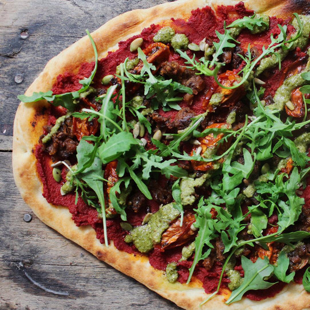 sunDRIED pesto pizza - USES: SHROOM BURGER