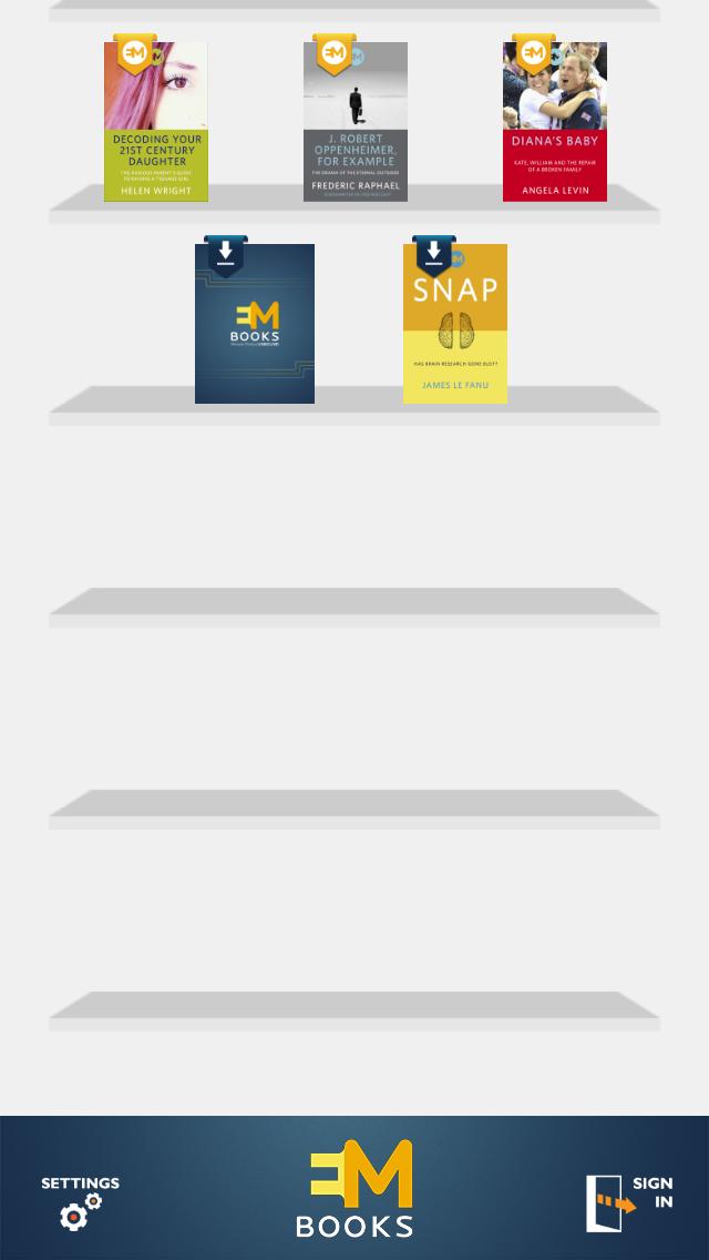 emBooks IOS app