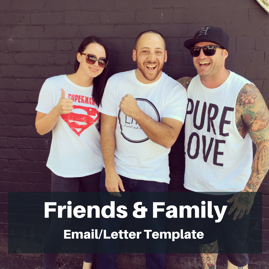 Template - Letter/Email for Friends & Family - This WORD document is a template that can be used to send to family and friends letting them know about your screening.Download Here