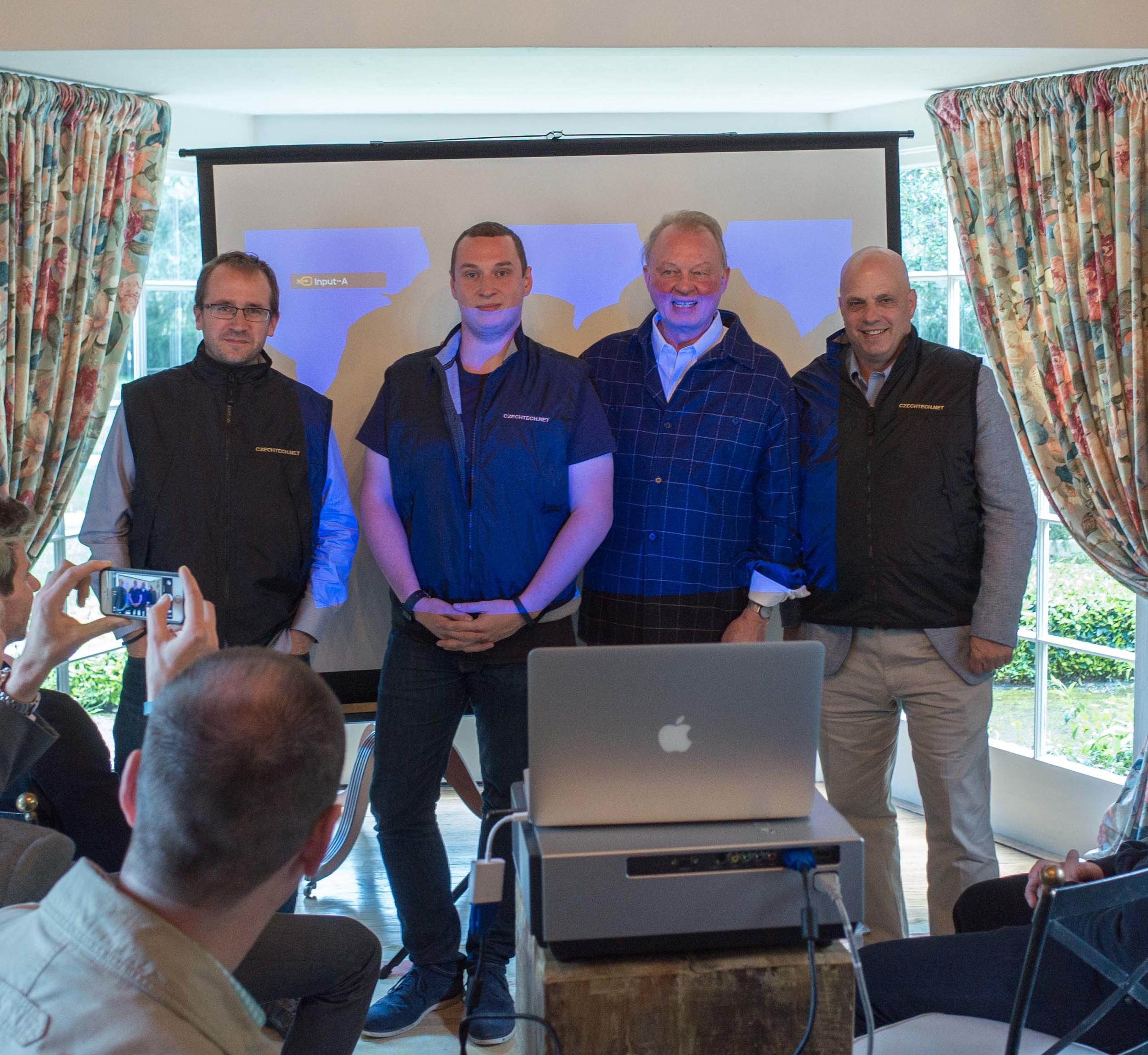 Photo by Roman Kasan. From left to right: Jakub Nesetril, Rastislav Turek, Richard Pivnicka, Vince Steckler.