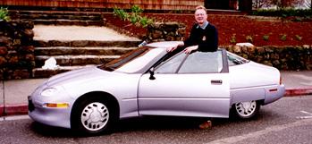 Richard Pivnicka with his EV-1.