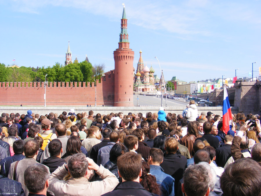 Victory Day in Moscow, Russia. 63rd anniversary. 9 May 2008.