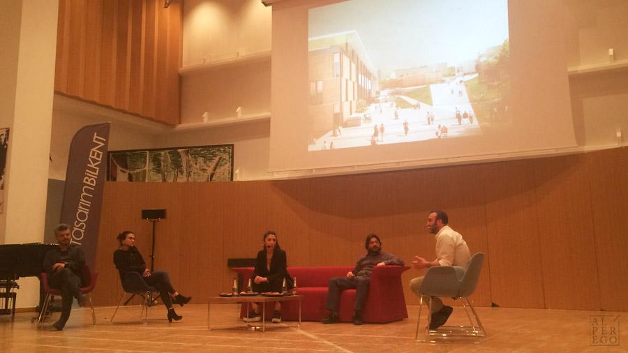 The Moderator  Onat Oktem ;  Ipek Baycan  and  Sule Erturk Gaucher  from Slash Architects;  Dogu Kaptan  from Atelye 70 and  Onur Yuncu .