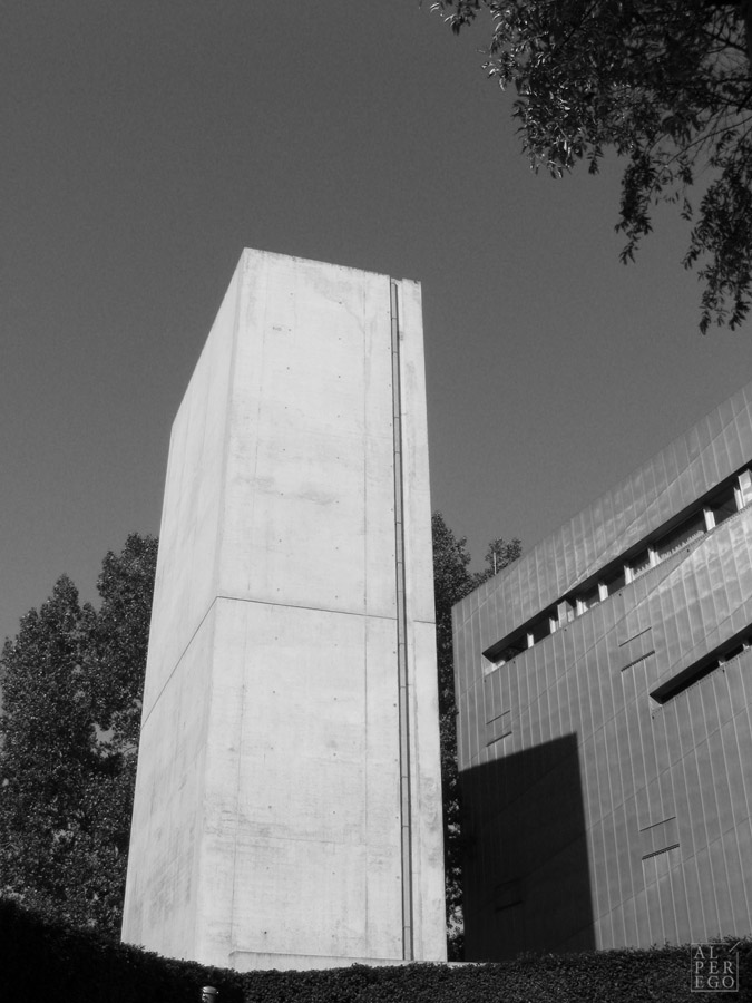 The Holocaust Tower of the Jewish Museum, from outside.