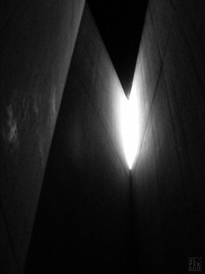 The Holocaust Tower of the Jewish Museum, from inside.
