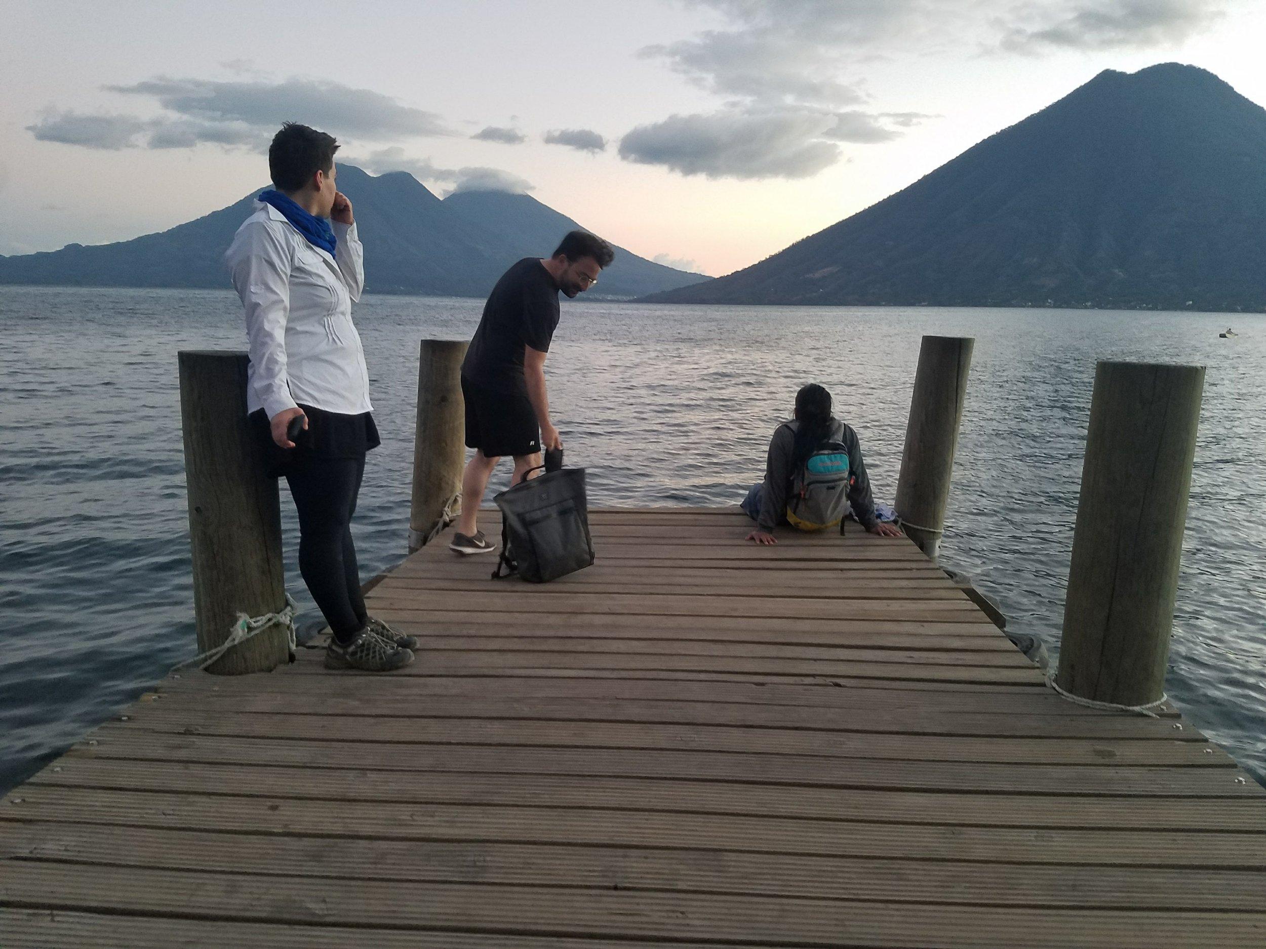 Residencia Yvonne Lily Cox-Richard, Andy Campbell, Manuel Chavajay, Lago Atitlán