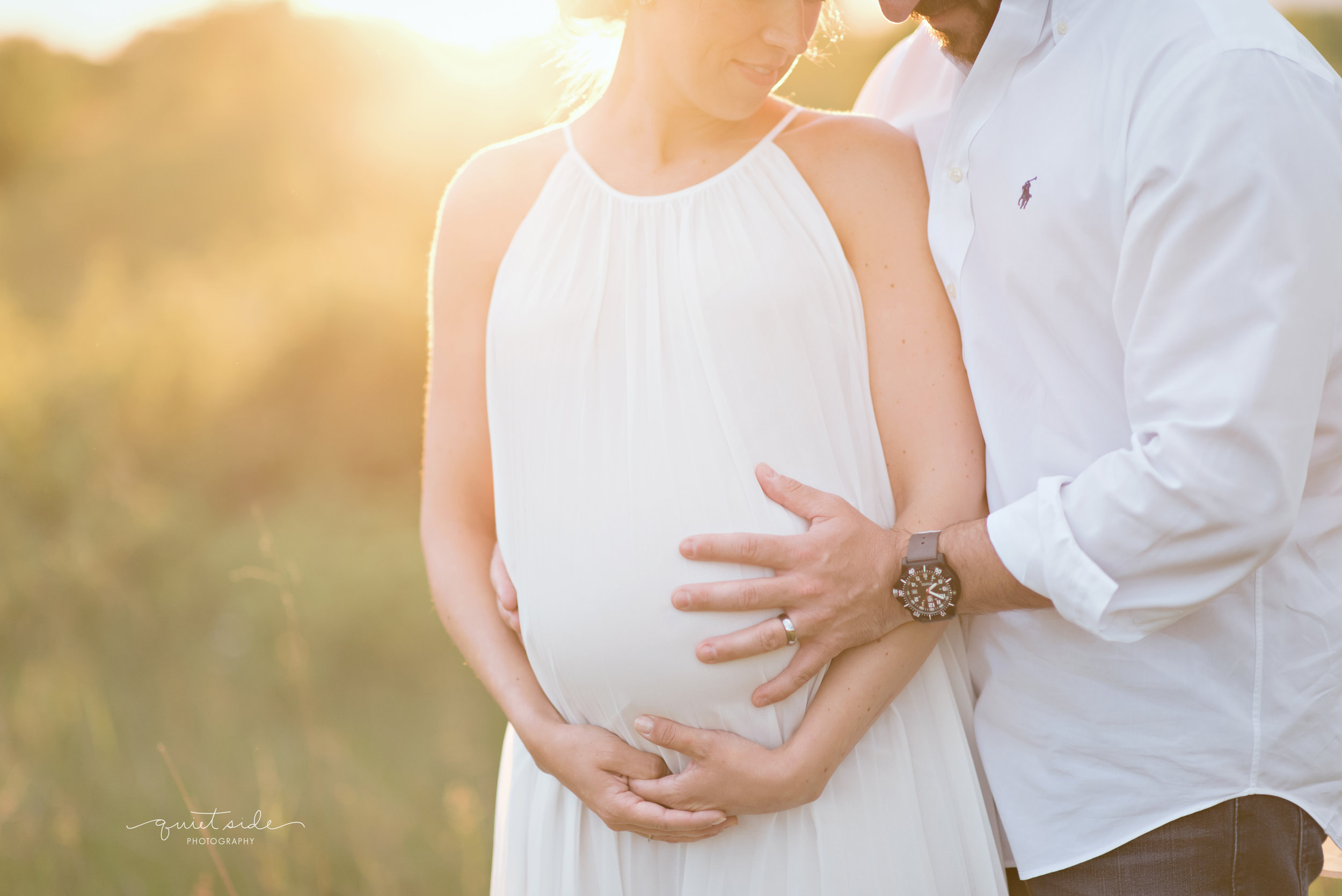 NorthernVirginia-Maternity-Sunset-Outdoor-GoldenHour-QuietSidePhotography-