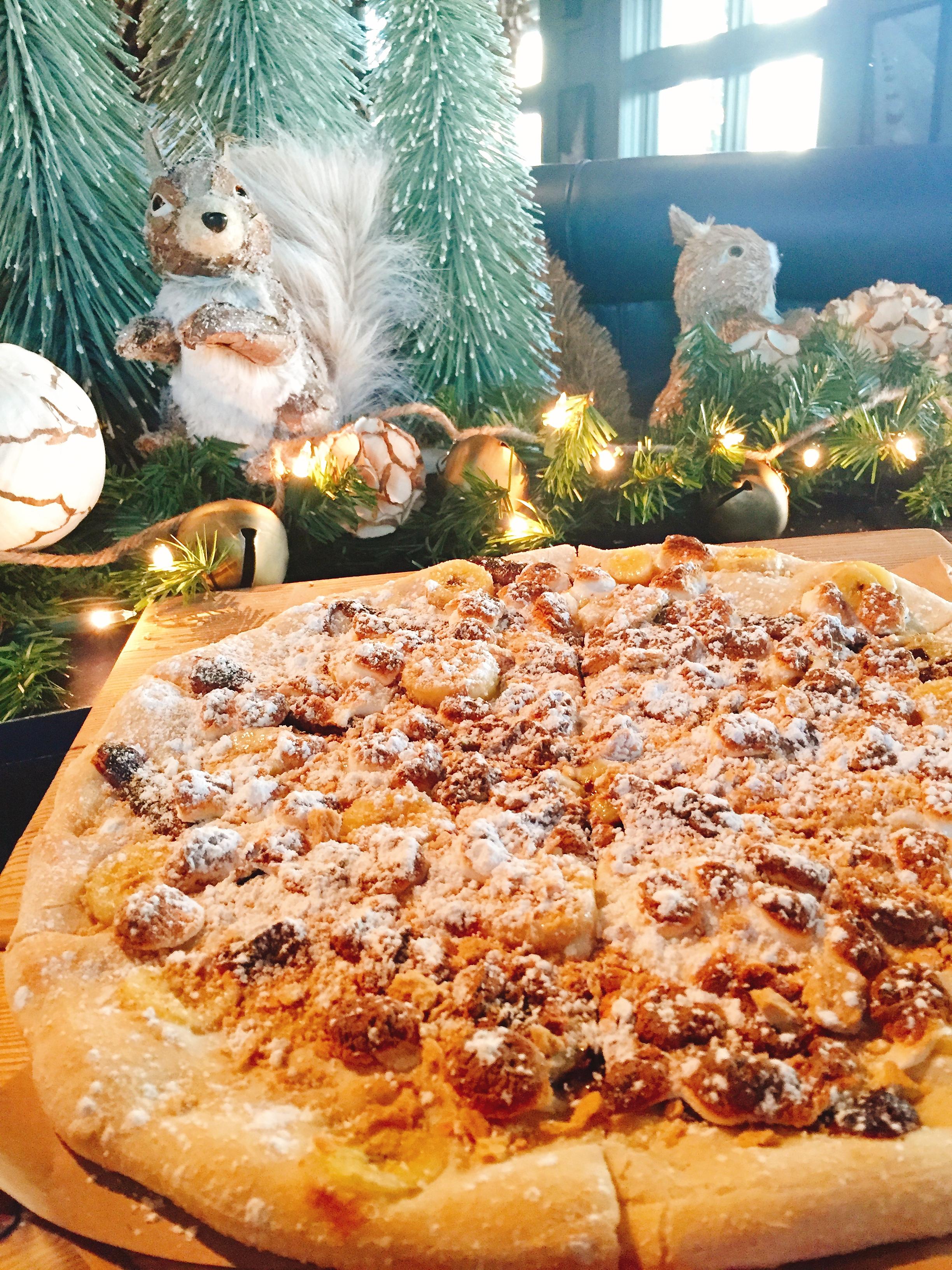 That squirrel better quit eyeballing my pizza...