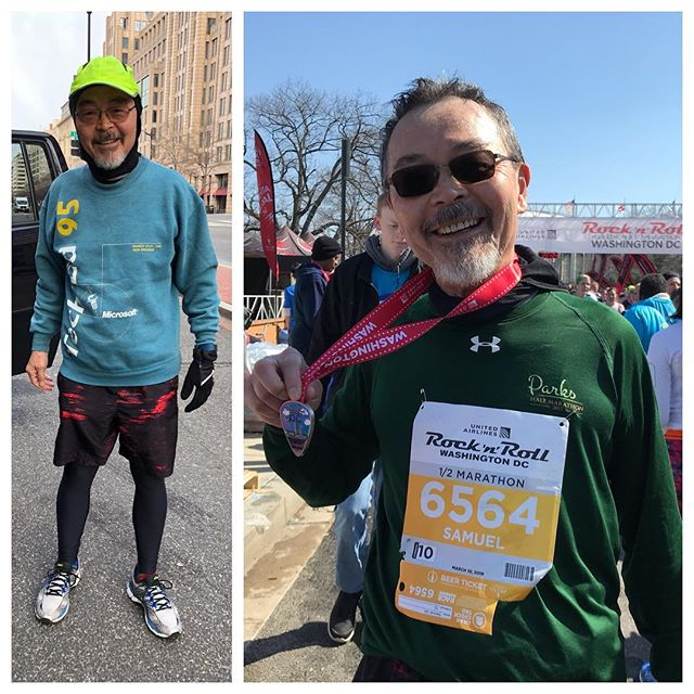 Props to my dad for completing another race! Turning 68 years old next week and is still killing it running half a dozen 1/2 marathons and full marathons each year. Keep it up, pops!  #running #halfmarathon #rocknroll #rocknrollmarathon #shoes #support #balance #goodmorning #enjoyinglife #proud #physicaltherapy #health #healthy #life #lifestyle #asics #dc #runningman #success #wellness #training #movement #fit #fitness #fitnessmotivation #motivation #bodybuilding #body #exercise #feet #breathing #posture