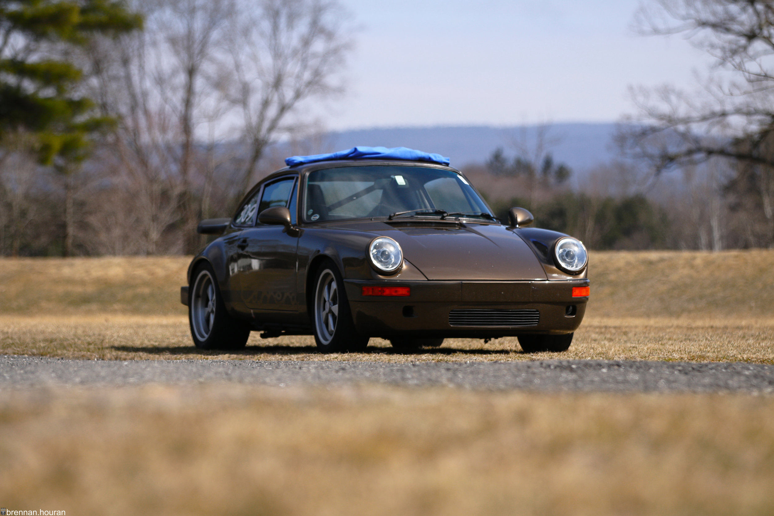 Above:    A 1979 Porsche 911 SC sits quietly, waiting for its next autocross session.